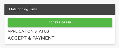 Accept Offer from Parent Dashboard