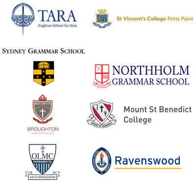 Logos of EnrolHQ clients who use online enrolments system